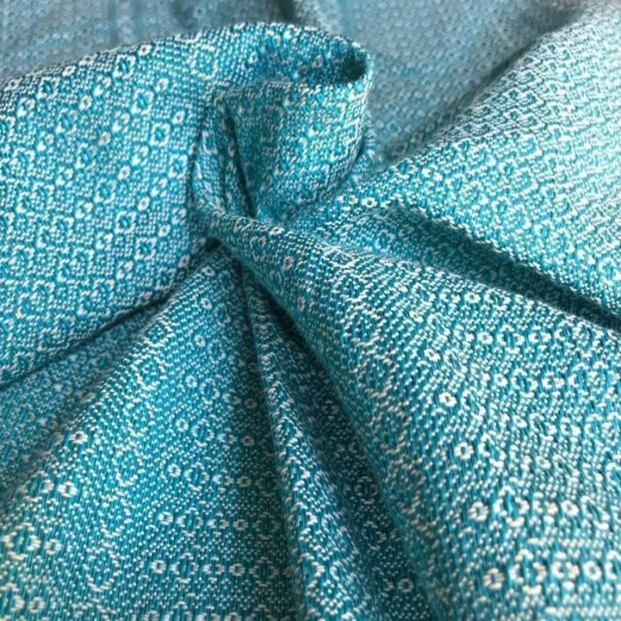 Woven baby wrap Gemma Marina. Soft organic cotton baby wrap is suitable for newborn & bigger babies.