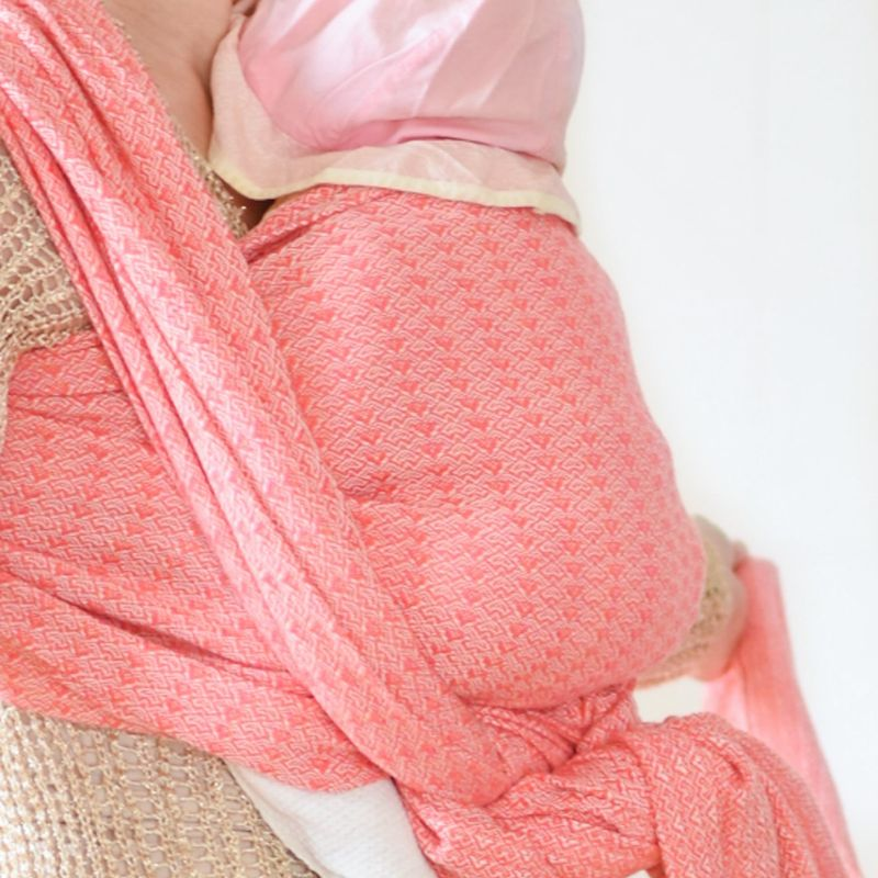 Coral pink baby wrap